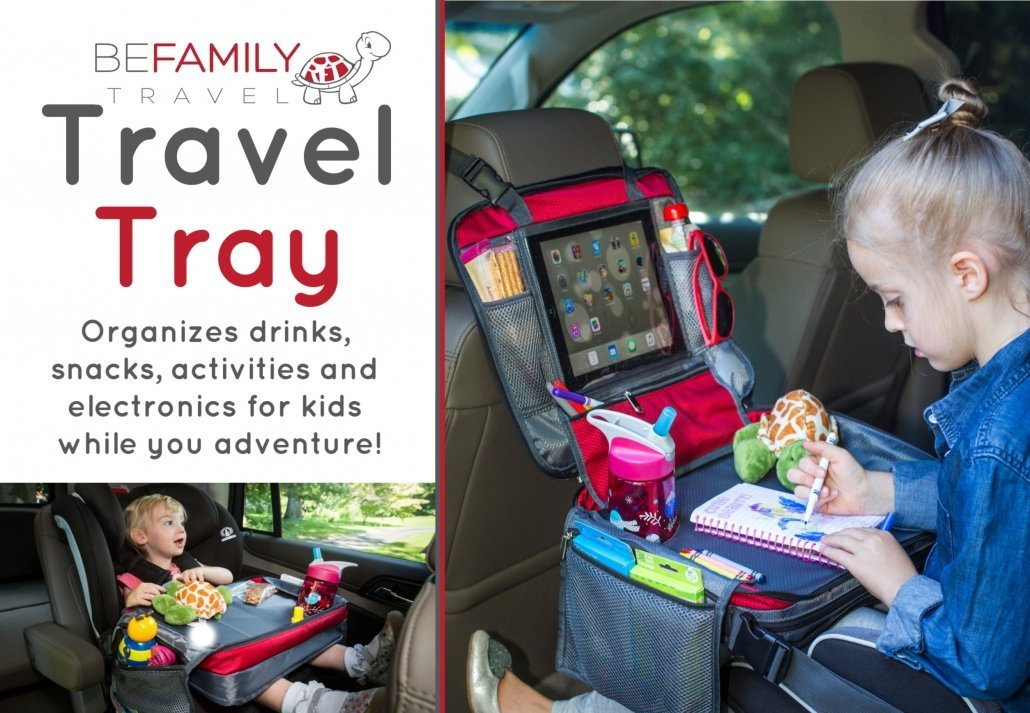 Kids Red car seat travel tray