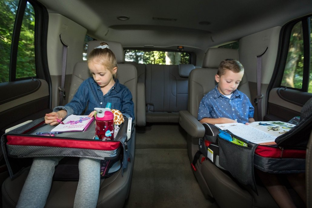 Kids Car Seat Travel Tray keeps Kids happy in the Back Seat