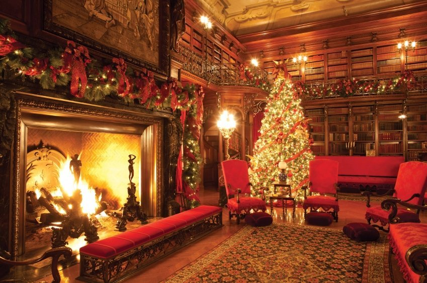 Biltmore Estate Library hold magic secrets that intrigue the kids.