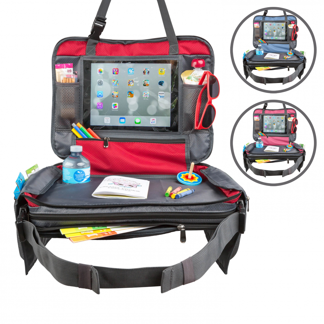 Kids Car Seat Travel Lap Tray for Snack and Play Easy to Clean with Cup Holder