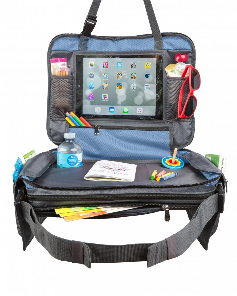 Toddler Travel Tray for car seat BE Family Travel Tray blue