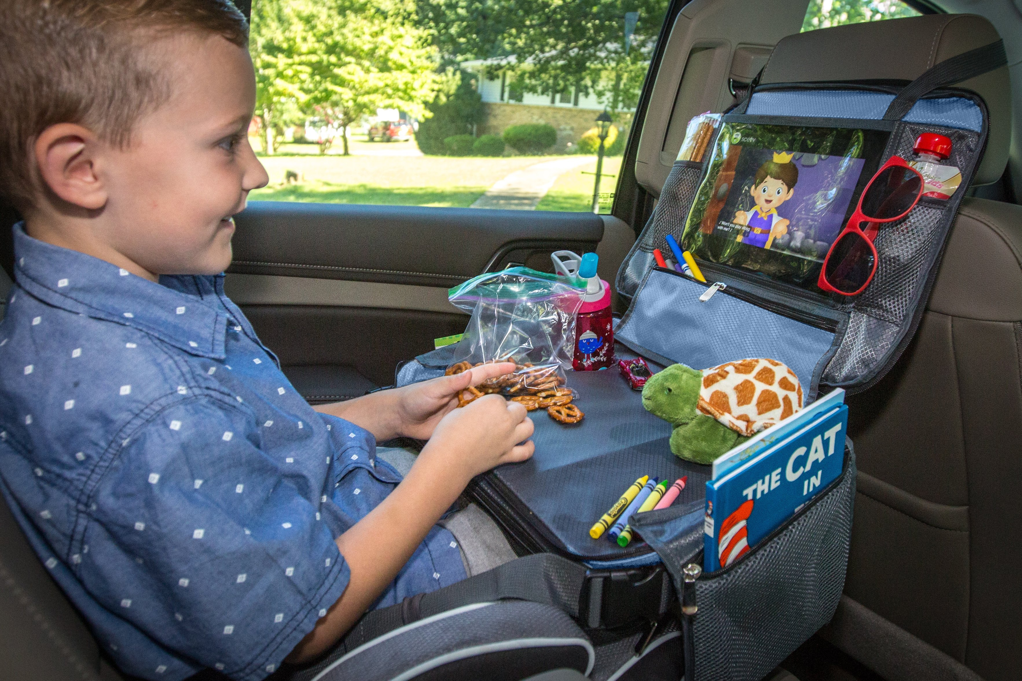 Back Seat Travel Tray for kids in car seats
