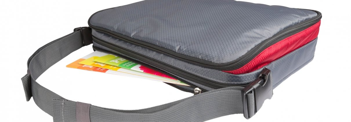 Kids Messenger Bag storage and organization for kids in Car Seat