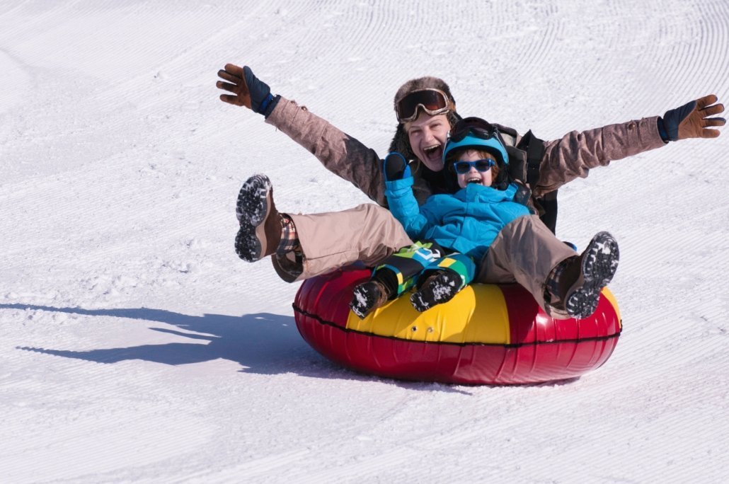 Family Snow Tubing in Asheville WNC