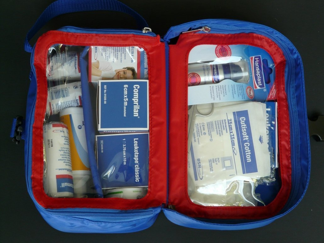 first aid kit for car family road trip with kids