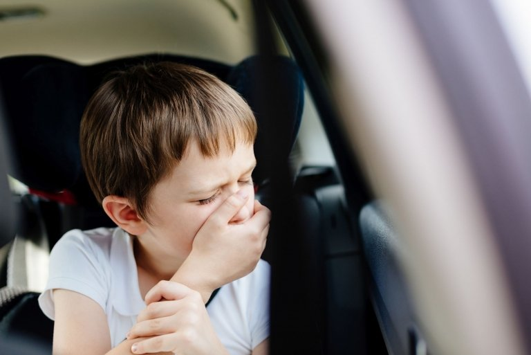 Motion Sick kid during Family Road Trip