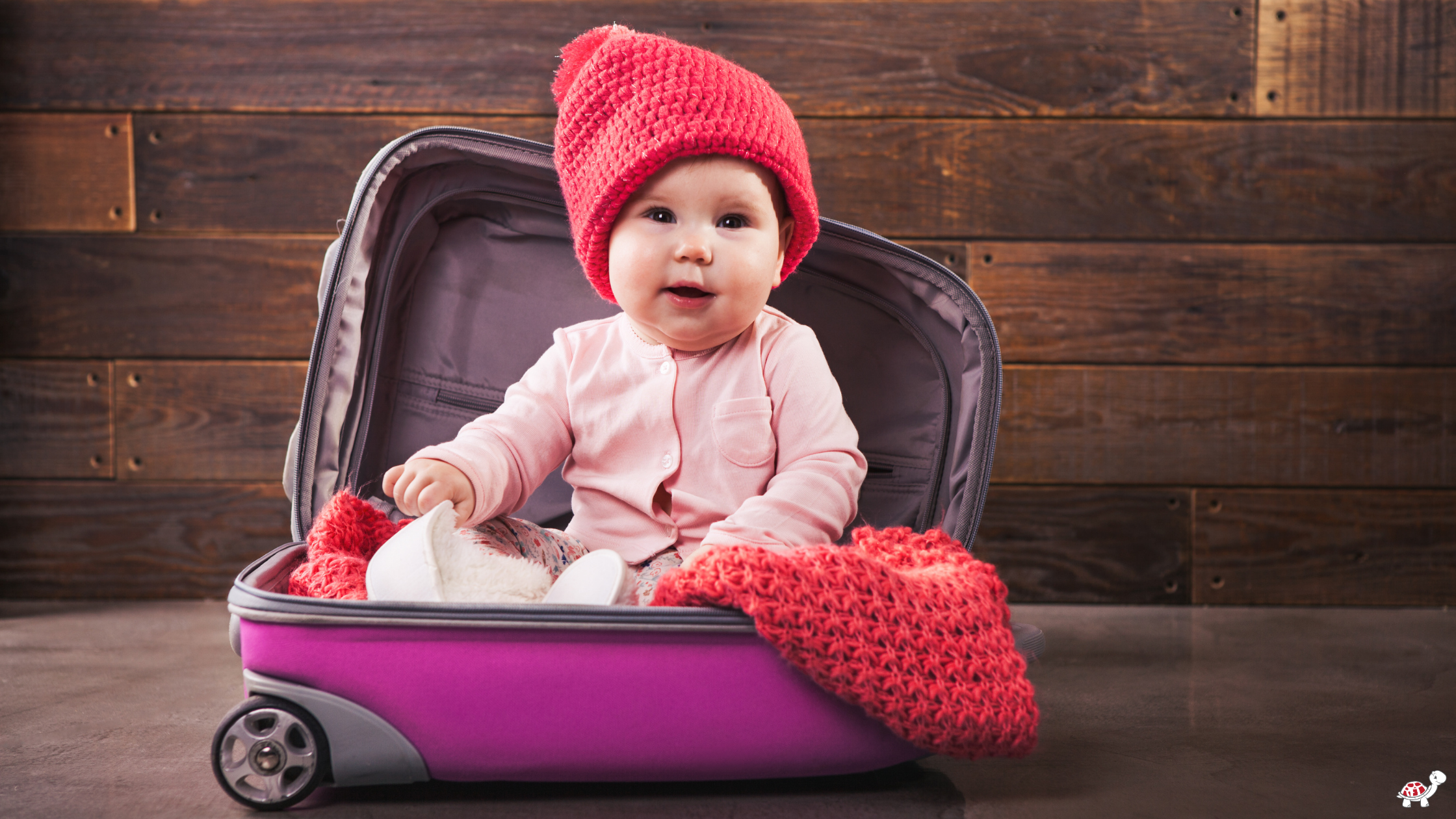 Travel with Baby in suitcase