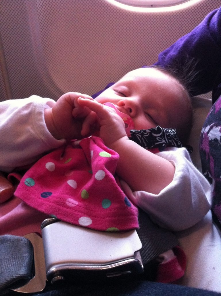Travel with baby as a lap child on a plane