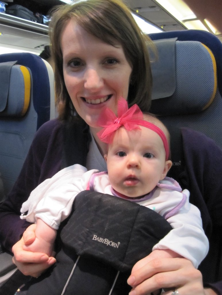 Travel with a baby as a lap child