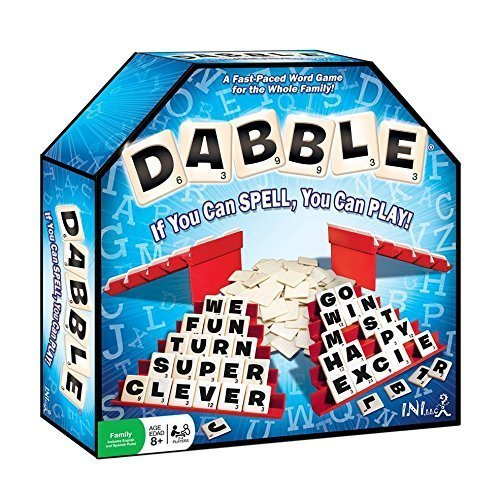 Dabble word game, great for family travel