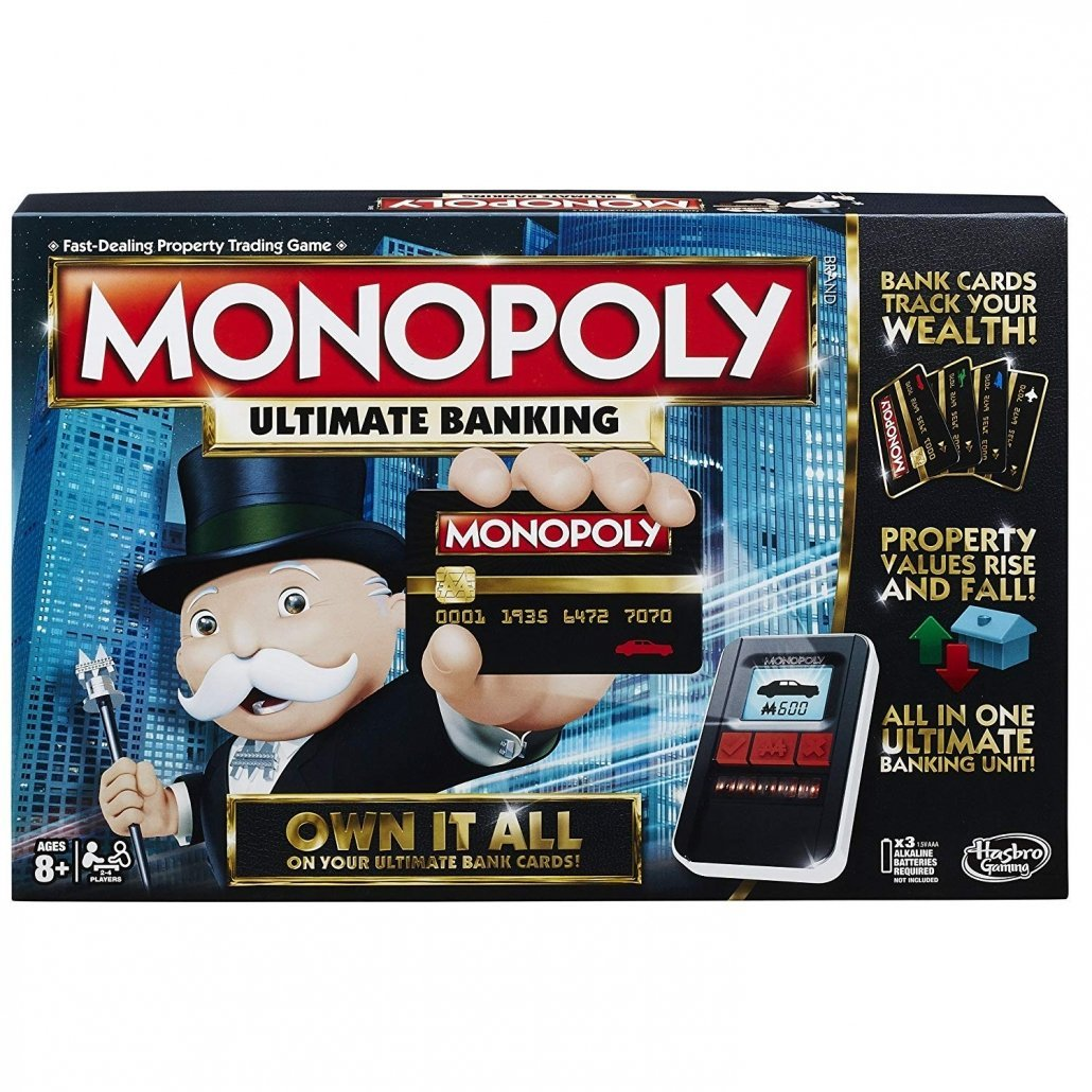Monopoly Ultimate Banking Board Game for family travel