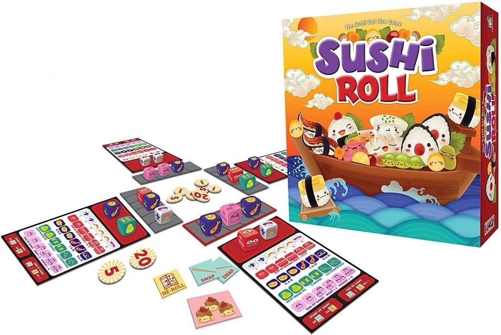 Sushi Roll - The Sushi Go! Dice Game for family travel