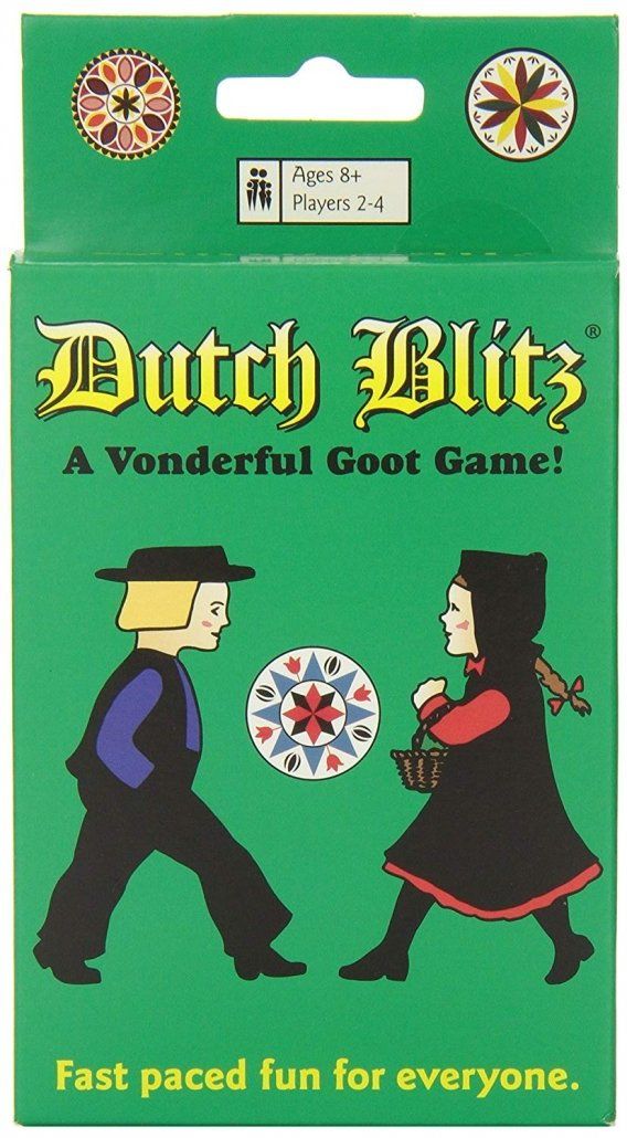 Dutch Blitz card game perfect for traveling.
