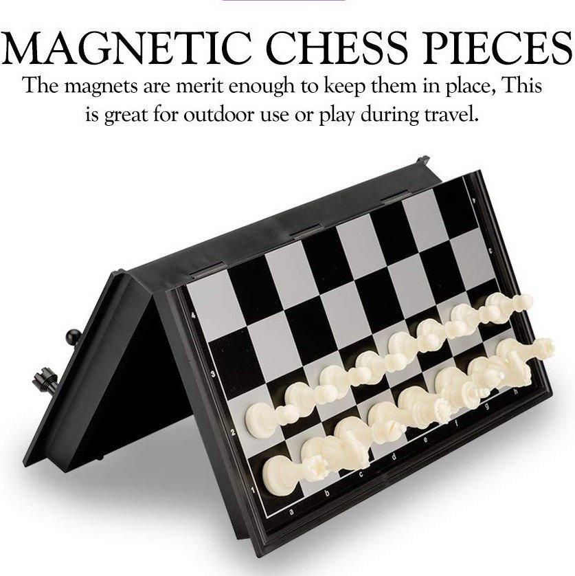 Magnetic Chess or checkers set works great as a family travel game on a family road trip.