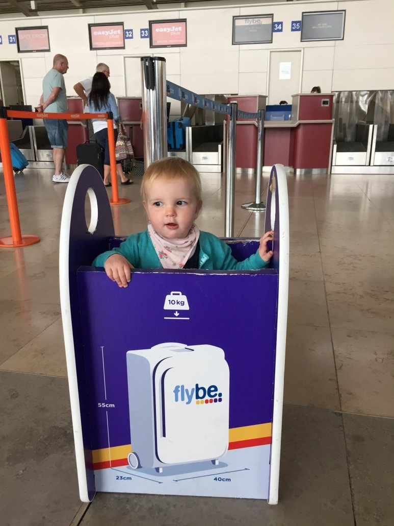 Airport security with children at check in