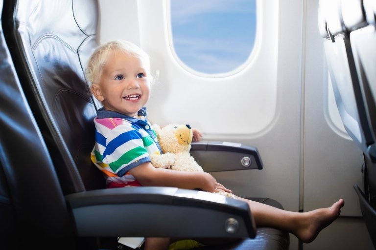 Flying with a toddler on plane