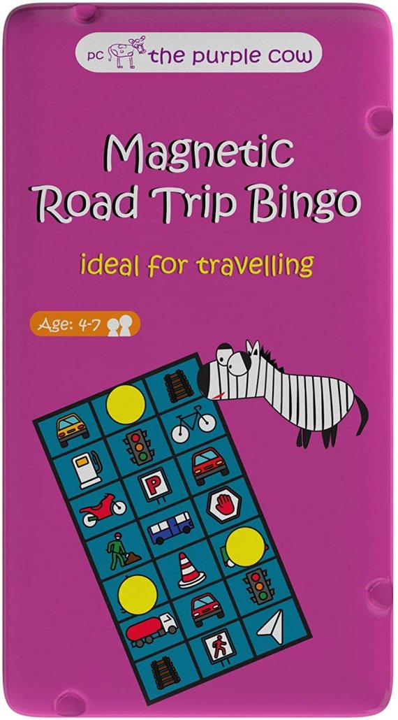 The Purple Cow Magnetic Travel Road Trip Bingo Game