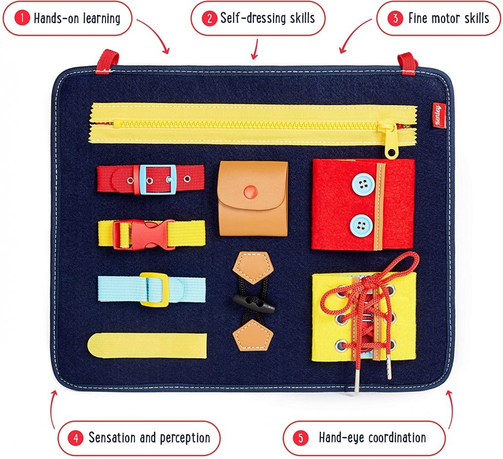 Travel Toys for Toddlers Busy Board