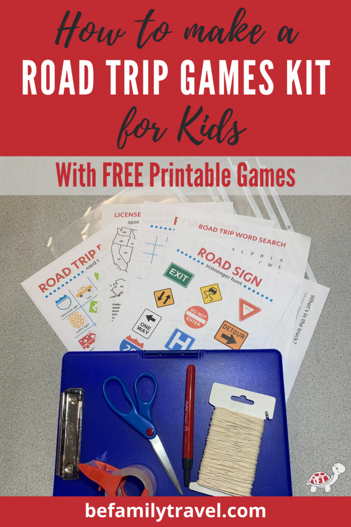 Printable Road Trip Games Kit
