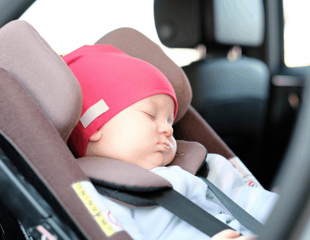 Road Trip With A Baby Asleep