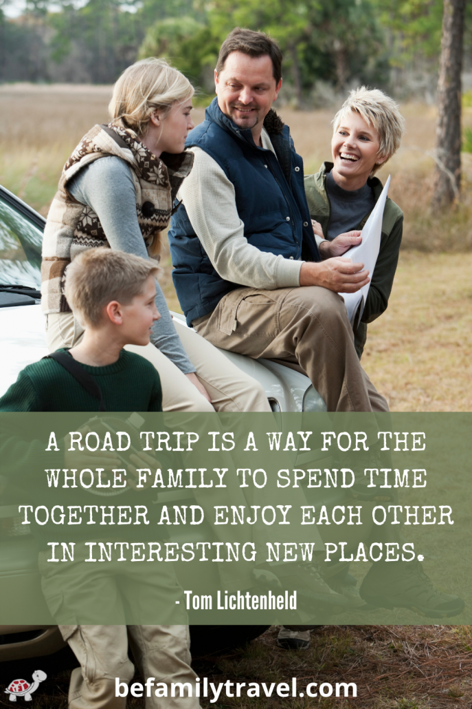 Family Road Trip Travel Quote