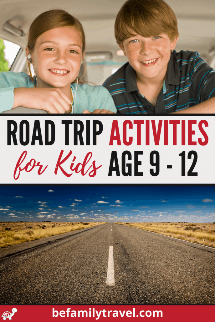 Road Trip Activities for Kids Age 9-12