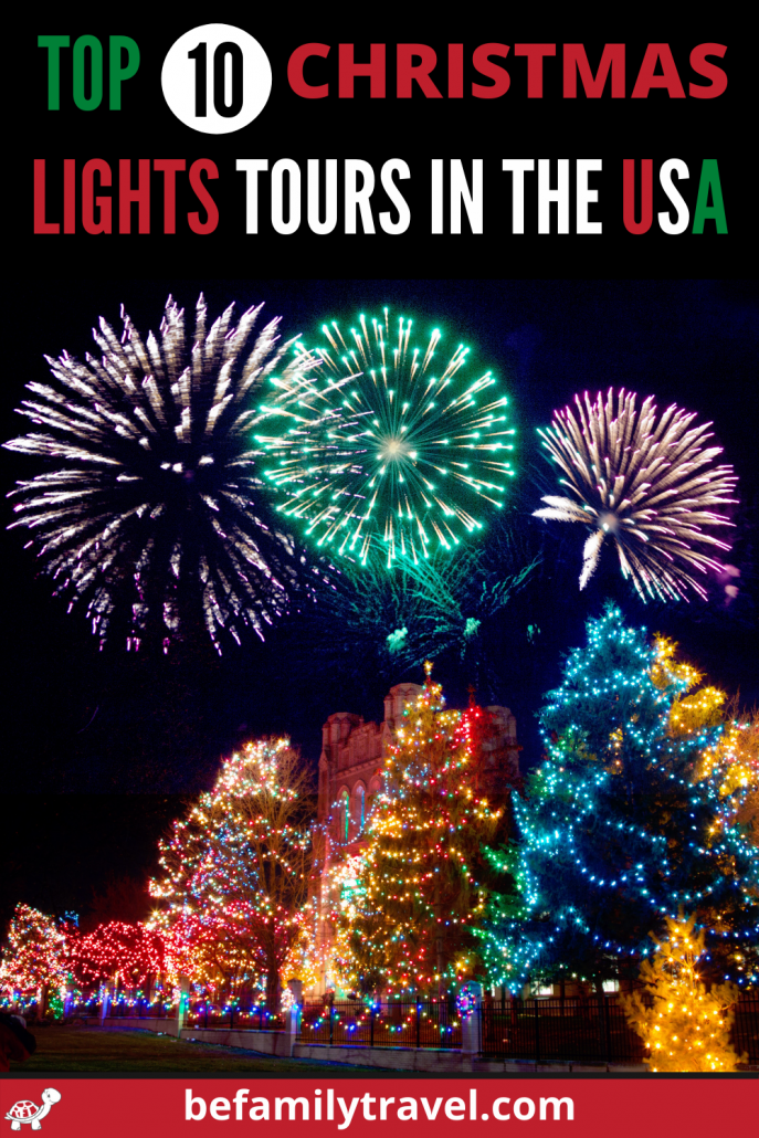 Top 10 Christmas Lights Tours in the USA