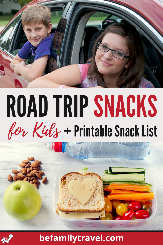 Road Trip Snacks for Kids with Printable Snack List