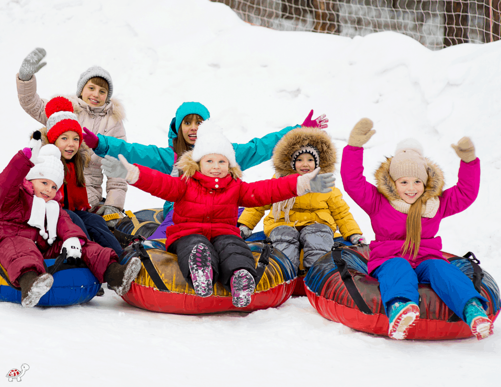 Snowing Tubing with Children near Asheville NC