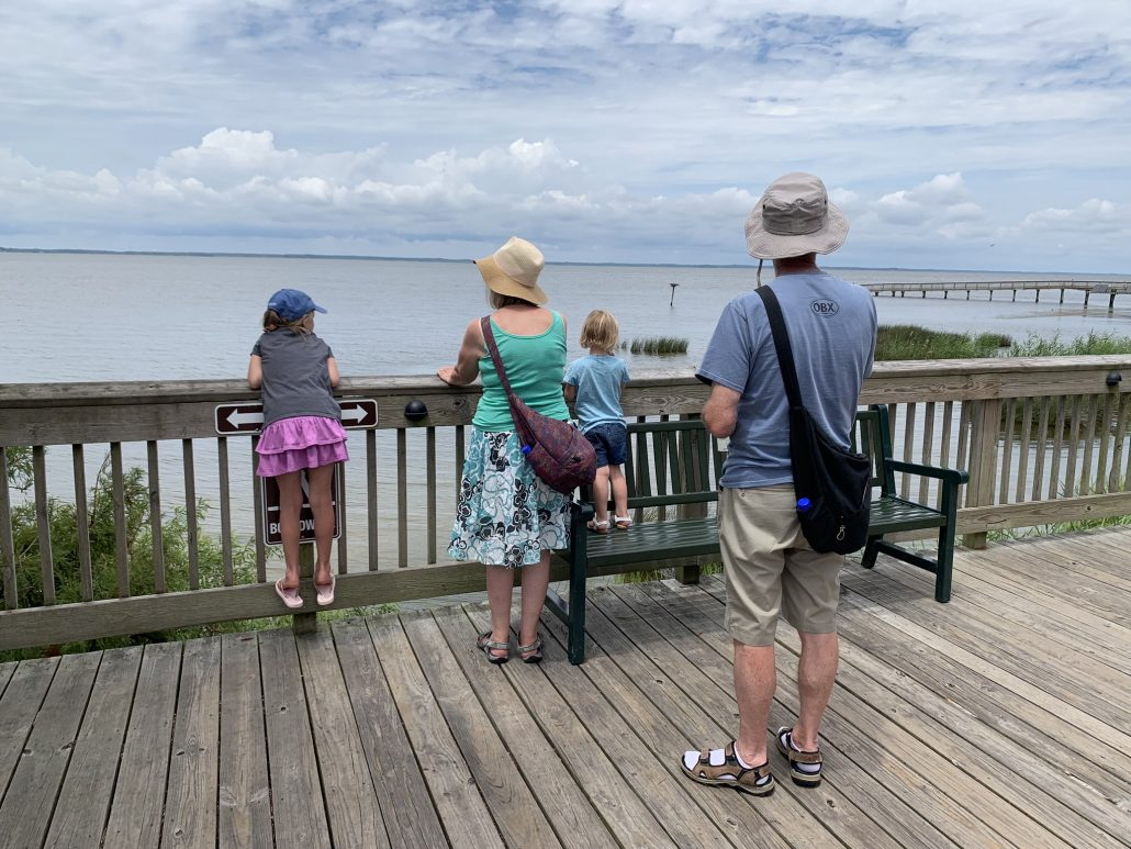 Duck Board Walk Family Viewing Currituck Sound