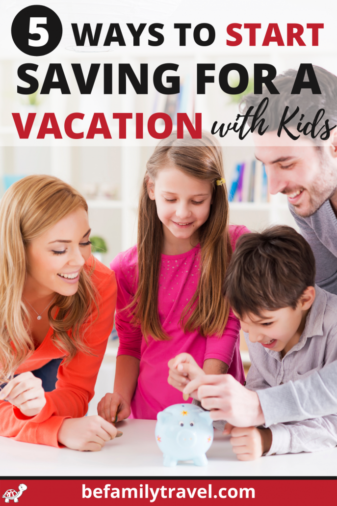 family saving for a vacation