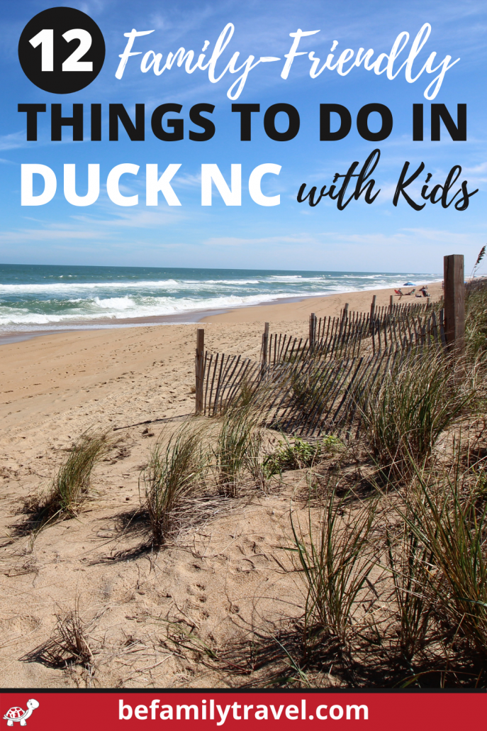 Family friendly things to do in Duck NC