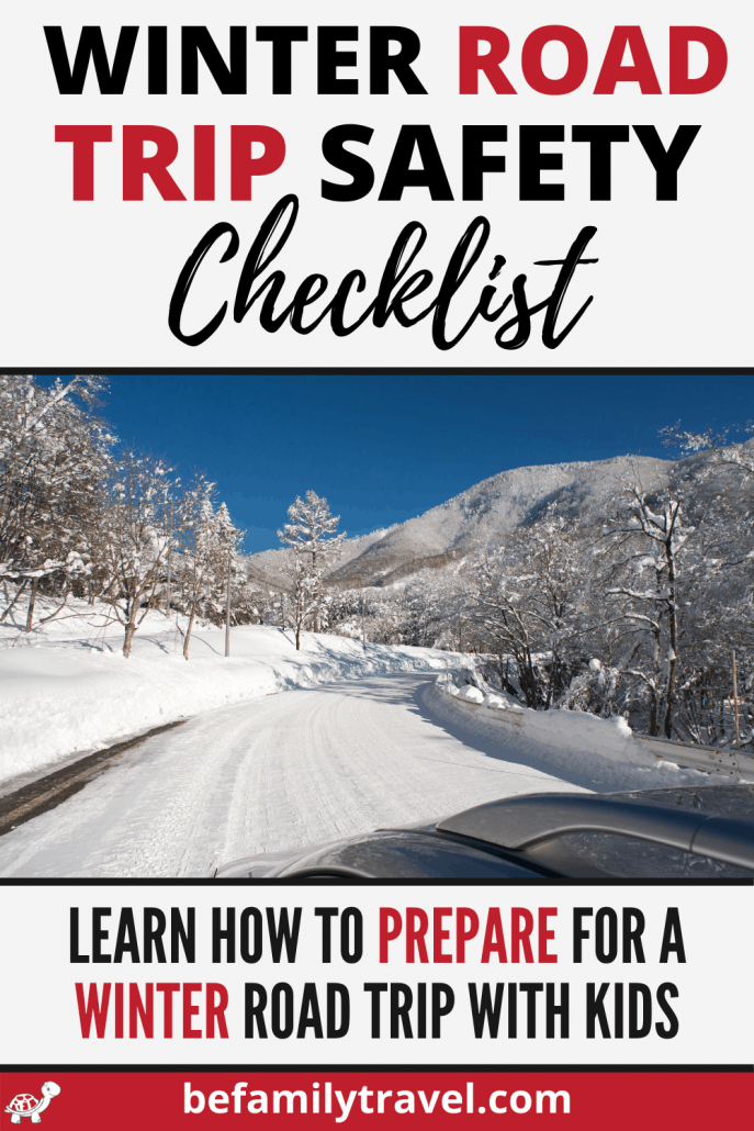 winter road trip safety checklist