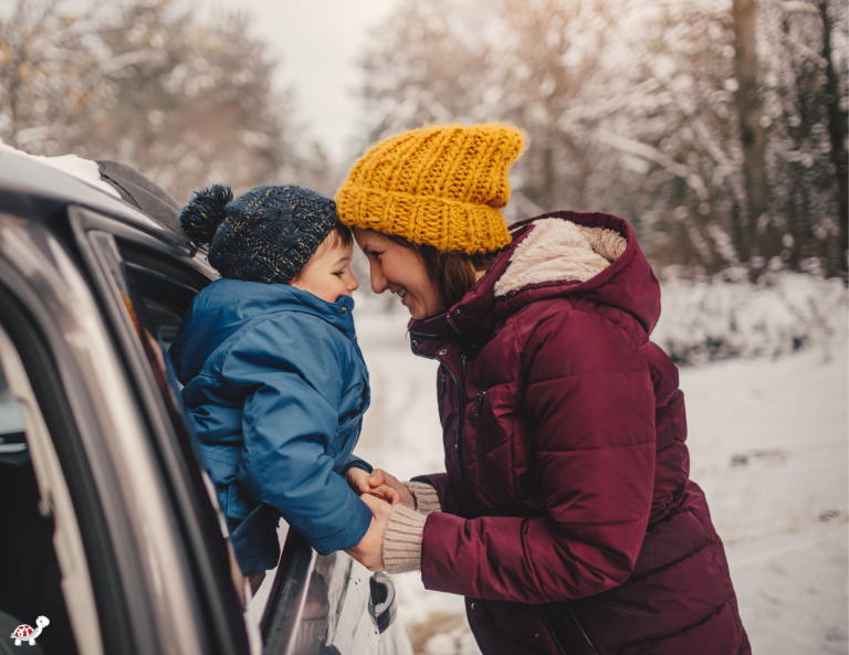 winter road trip with kids