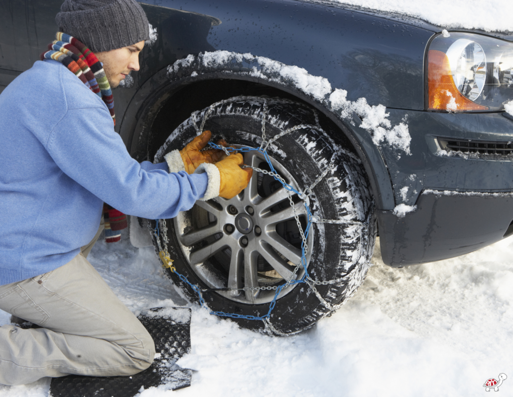 snow chains for winter travel