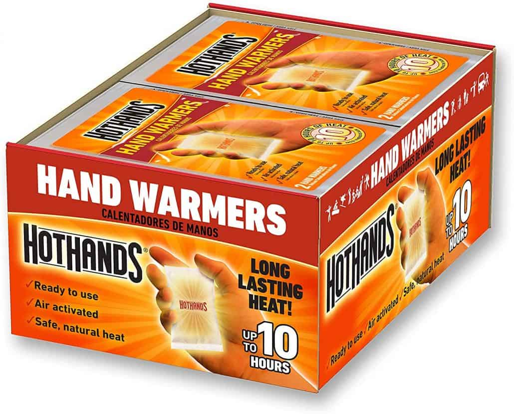 hand warmers for winter road trip