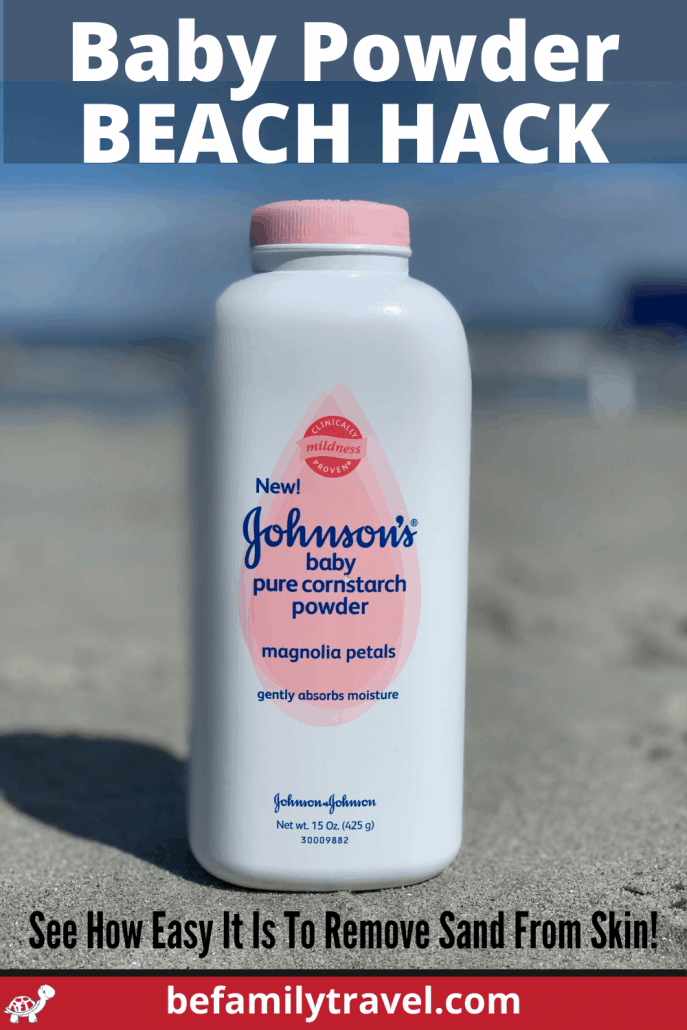 Baby Powder Beach Hack To Remove Sand From Skin