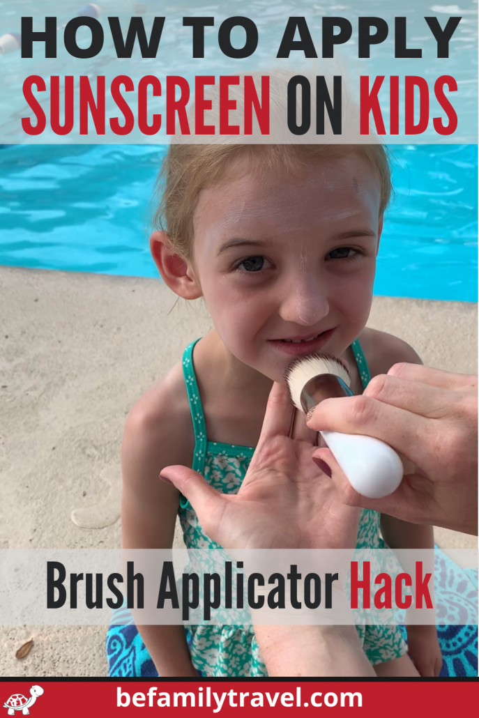 how to apply sunscreen on kids