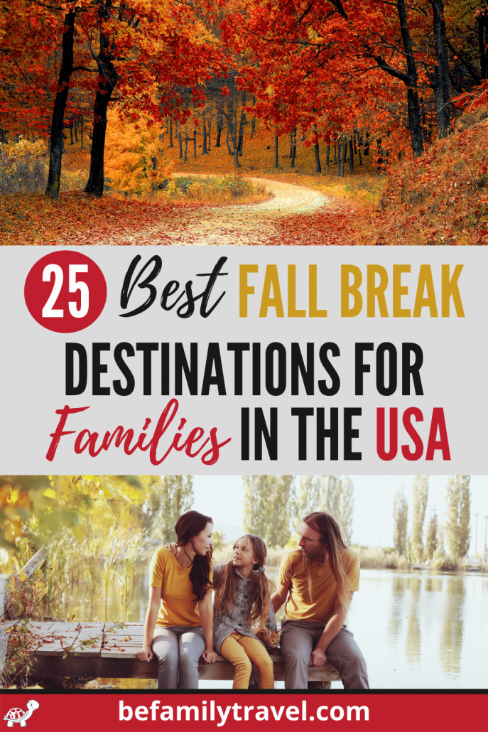 where to go for fall break - destinations in the USA