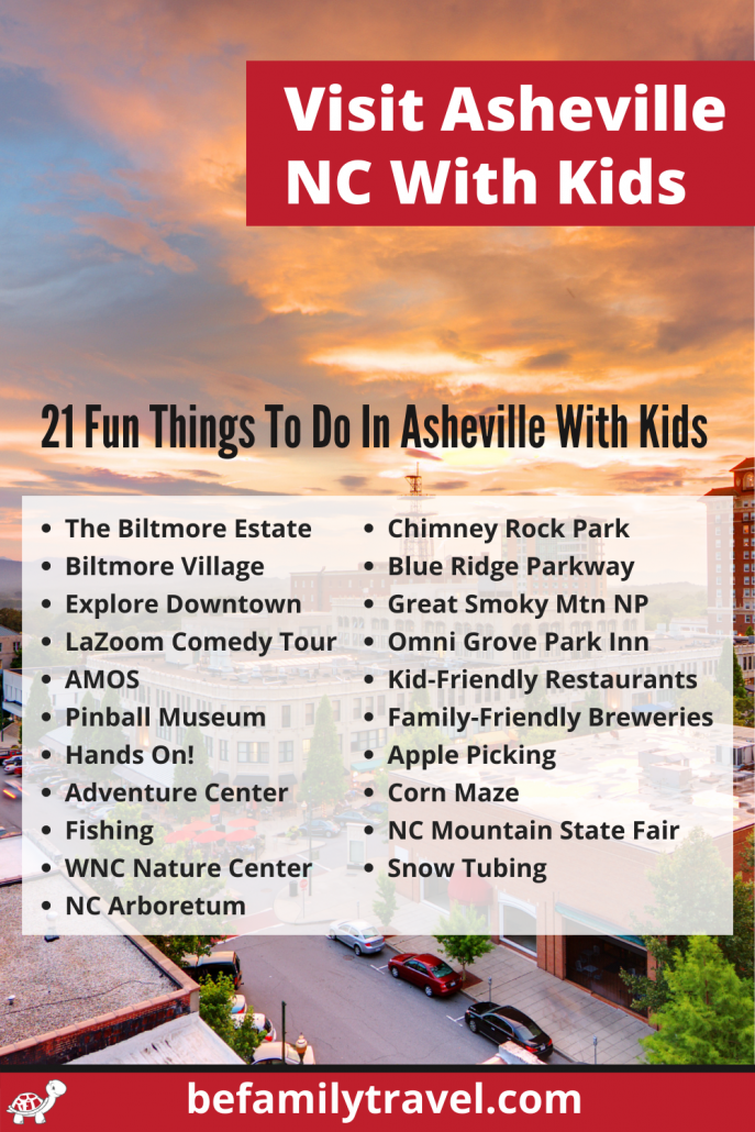 Visit Asheville NC with Kids - list of 21 fun things to do in Asheville with kids