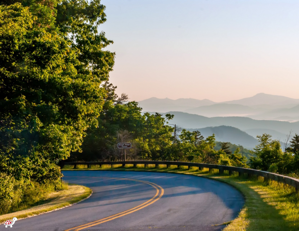 America's favorite drive is The Blue Ride Parkway - visit Asheville with kids
