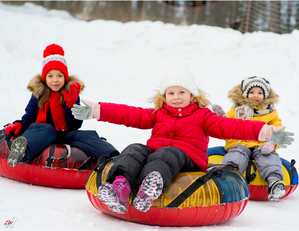 family activities - snow tubing with kids in Asheville NC