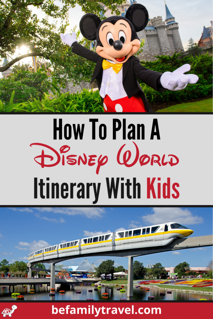 How to plan a Disney World Itinerary with Kids